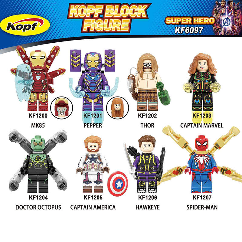 Kopf Super hero figures KF6097 - Iron Man Thor Assembled Building Block Minifigure