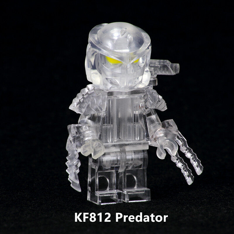 Kopf Super hero figures - KF812 Movie Series Assembled Minifigure Transparent Predator