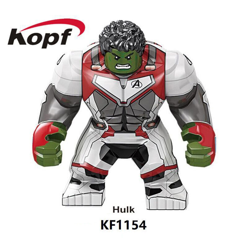 Kopf Superhero Series Assembled Four-quantity quantum suit Hulk assembled building block minifigure educational toy
