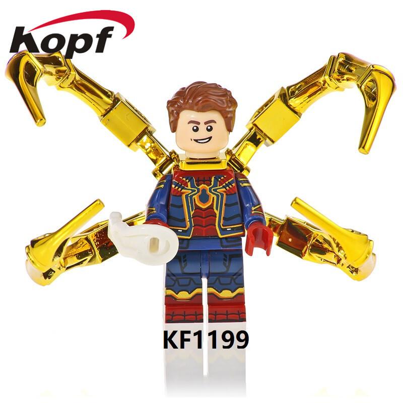 Kopf Superhero Series Spided Man Assembled Minifigure Educational Toys