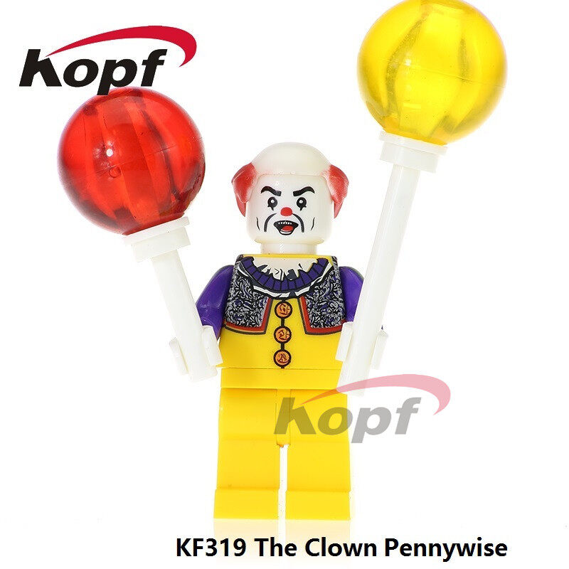 Kopf Third-party Film Series Clown back to the soul assembled minifigure educational toys
