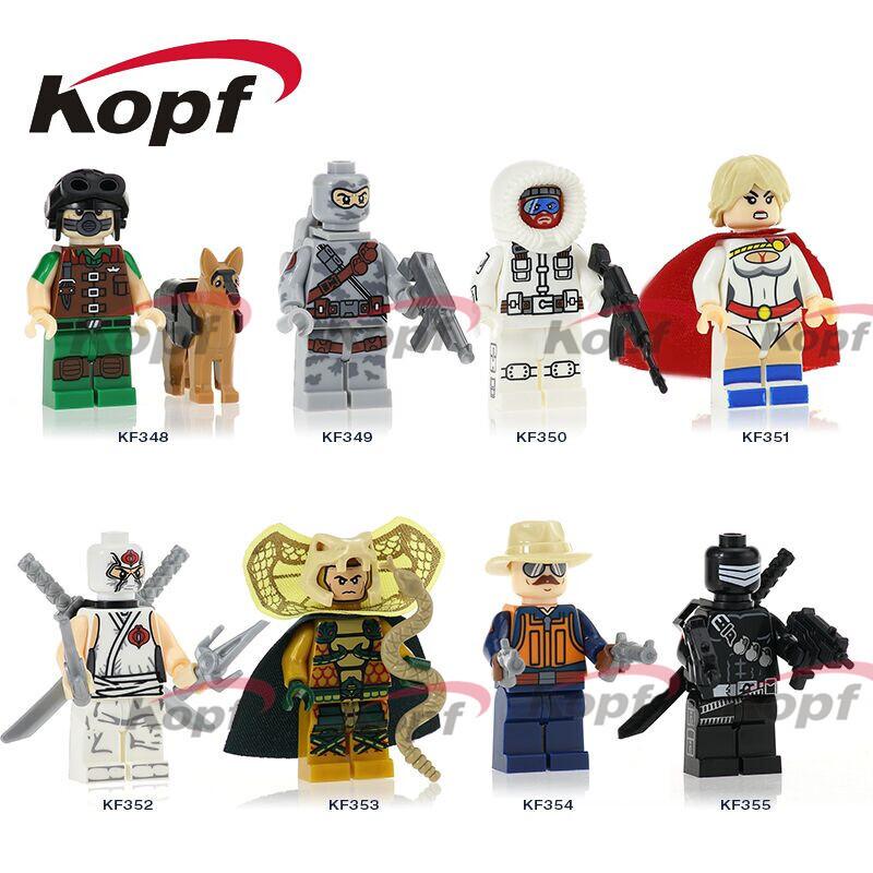Kopf Superhero Series - G.I. Joe 3 Assembled minifigures
