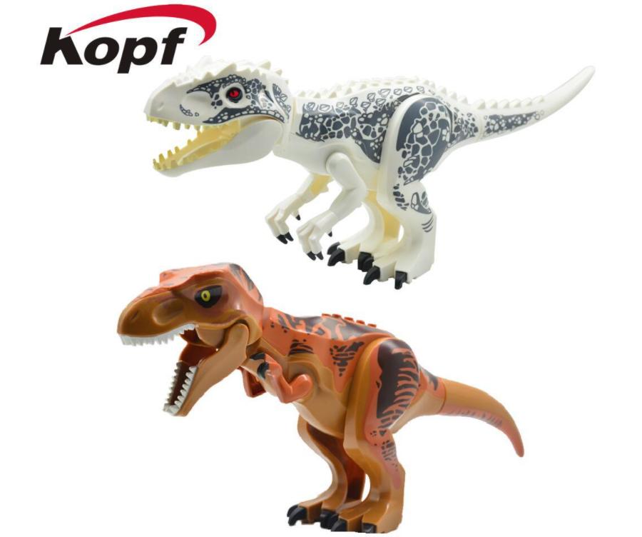 Kopf Dinosaur World Big Dinosaur Bricks White Dinosaur Minifigures