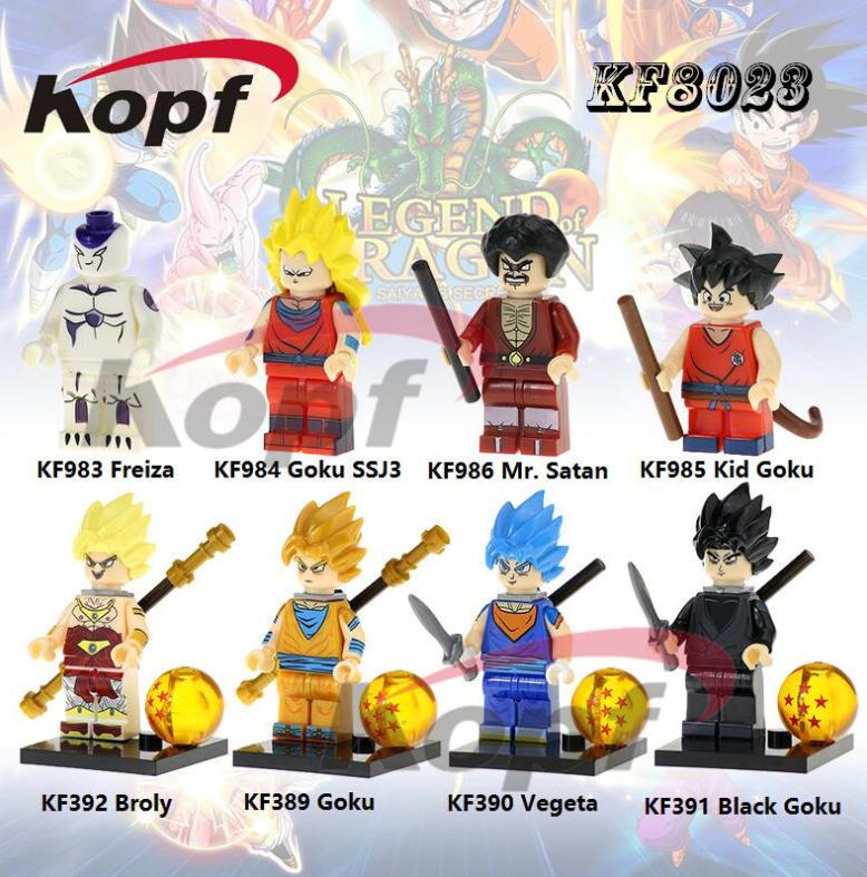 Kopf Dragon Ball Goku 3 Saiyan Suit Minifigures