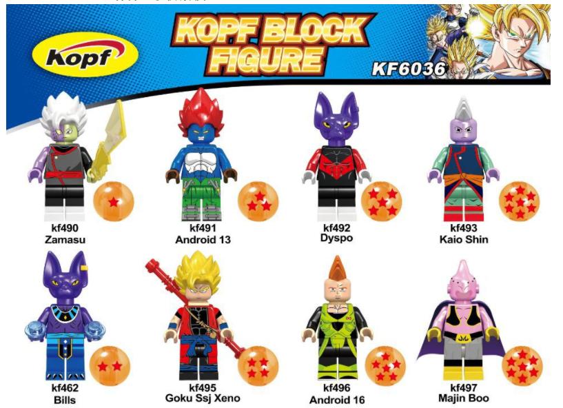 Kopf Dragon Ball Goku robot assembly Minifigures