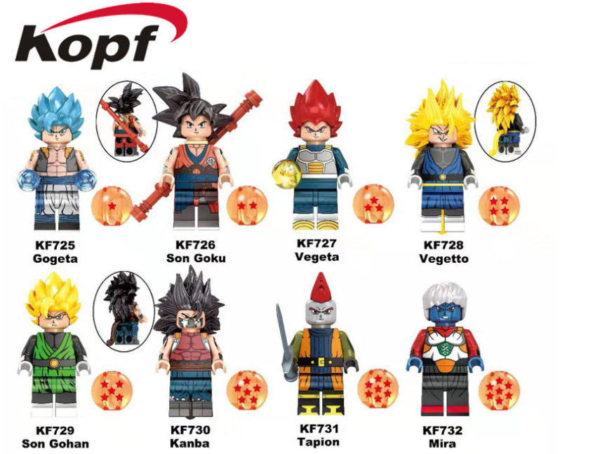 Kopf Dragon Ball Saiyan Goku Assembling Minifigures