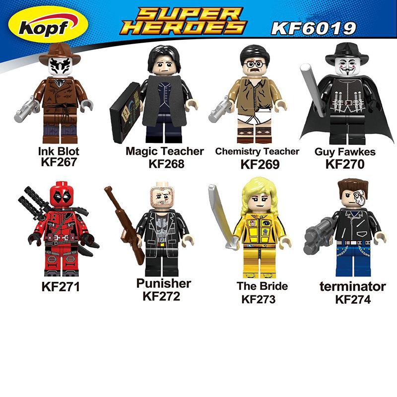 Kopf Superhero Series - Eight Assembled Minifigures Red Deadpool