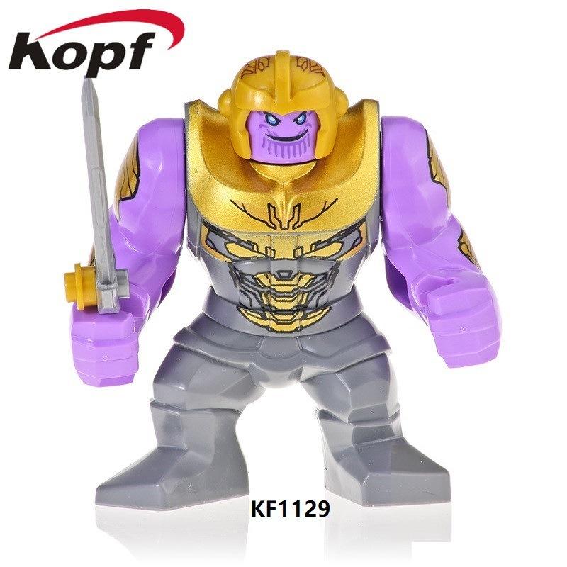 Kopf Superhero Series - Big Thanos Assembled Building Blocks Big Figure