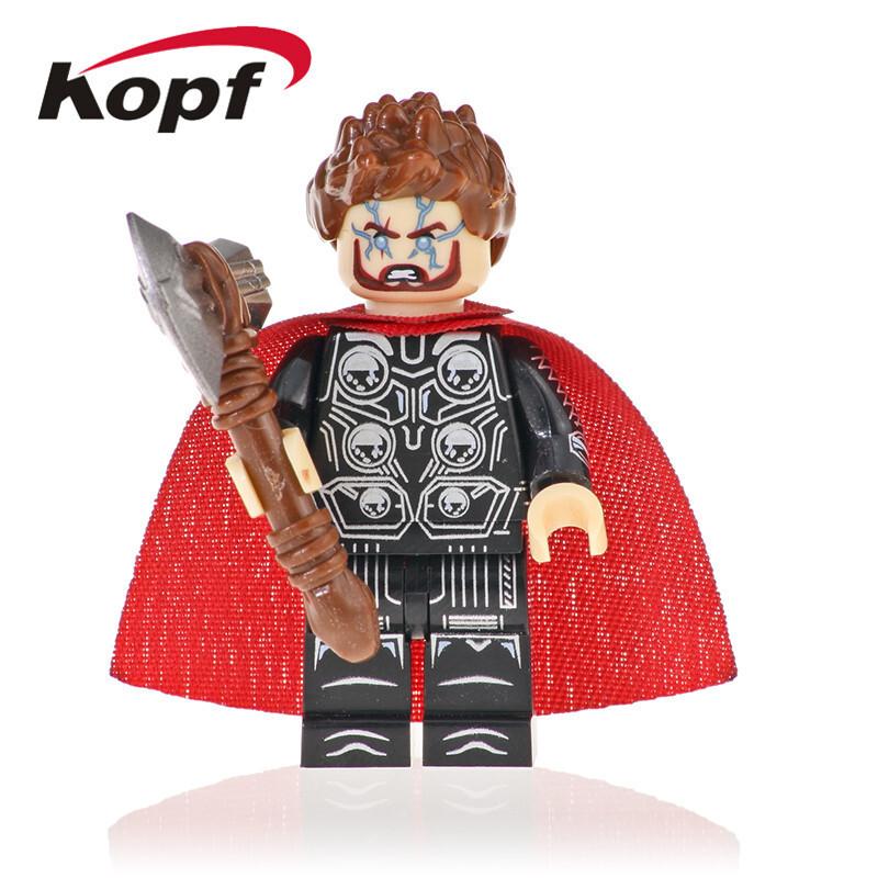 Kopf Superhero Series - Thor Assembled Building Block Minifigure KF1125