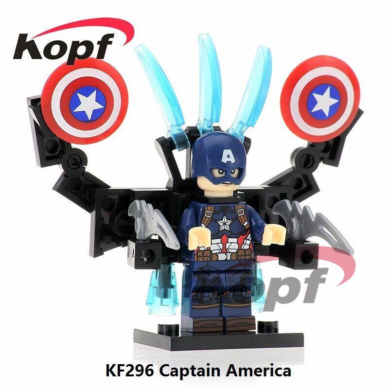 Kopf Superhero Series - Captain America with double shields assembled minifigure