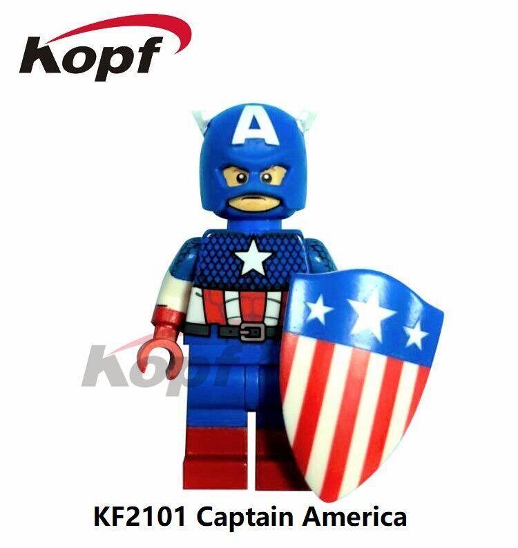 Kopf Superhero Series - KF2101 Captain America Puzzle Assembled Minifigure