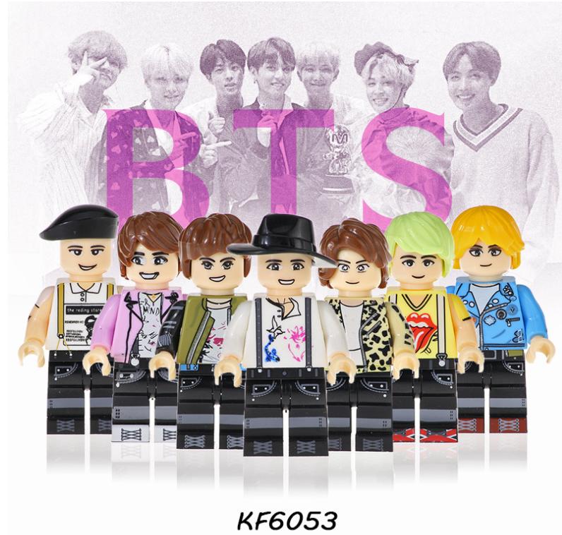 Kopf Celebrity & Singer & Painter Korean boy singing group BTS (BTS) Minifigures