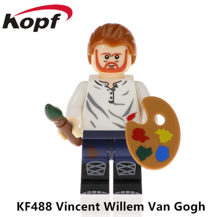 Kopf Celebrity & Singer & Painter Vincent William Van Gogh Minifigures