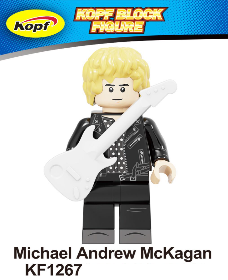 Kopf Celebrity & Singer & Painter Well-known Music Rock Guns And Roses Minifigures