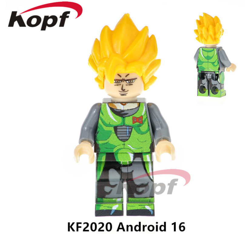 Kopf Dragon Ball Android16 cyborg Minifigures