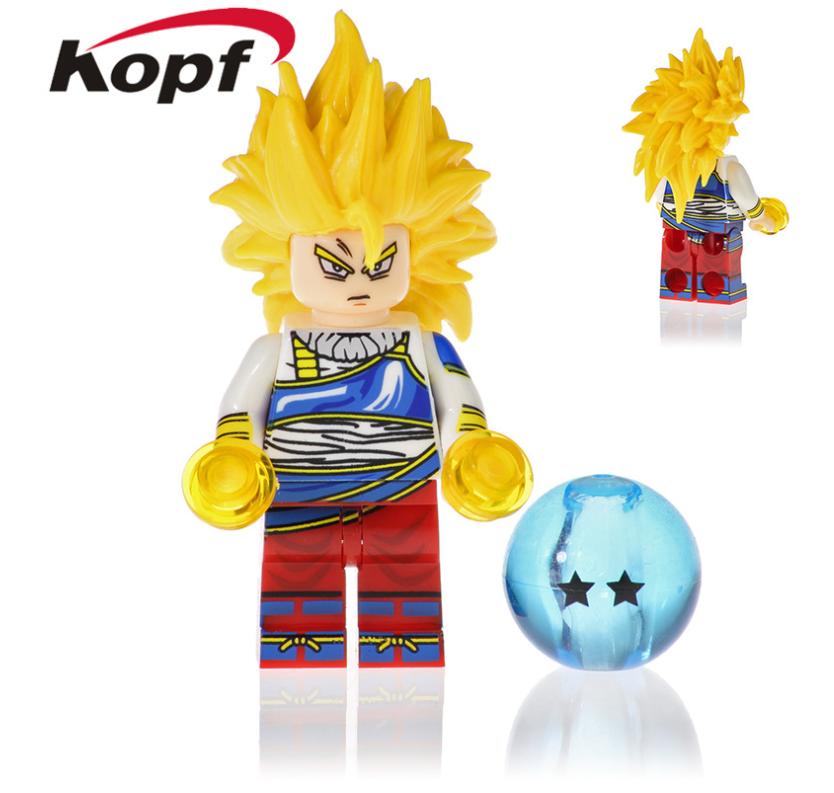 Kopf Dragon Ball Super Saiyan Assembled Block Minifigures