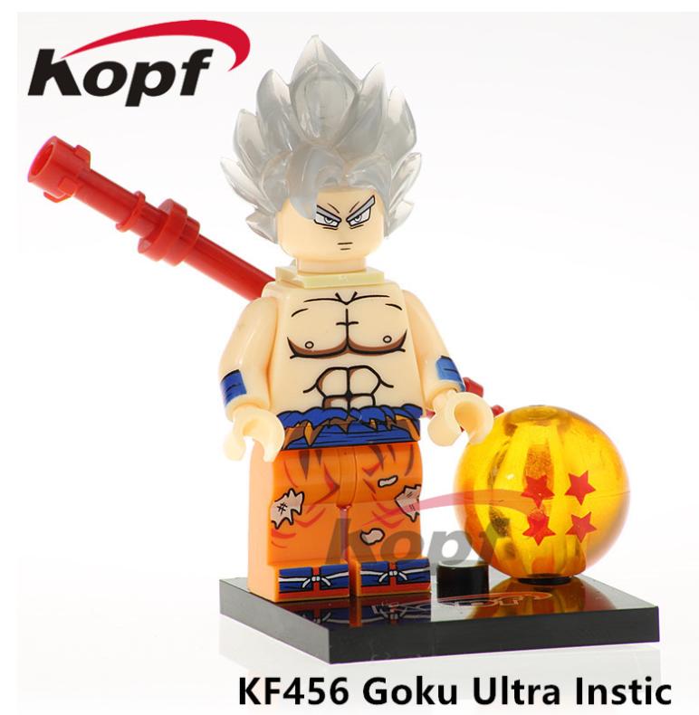 Kopf Dragon Ball White-haired Goku GokuUltra Lnstic Minifigures