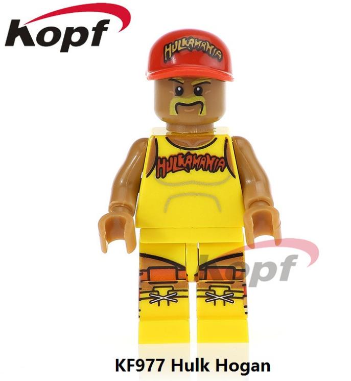Kopf Celebrity & Singer & Painter American Wrestler Figure HulkHogan Minifigures