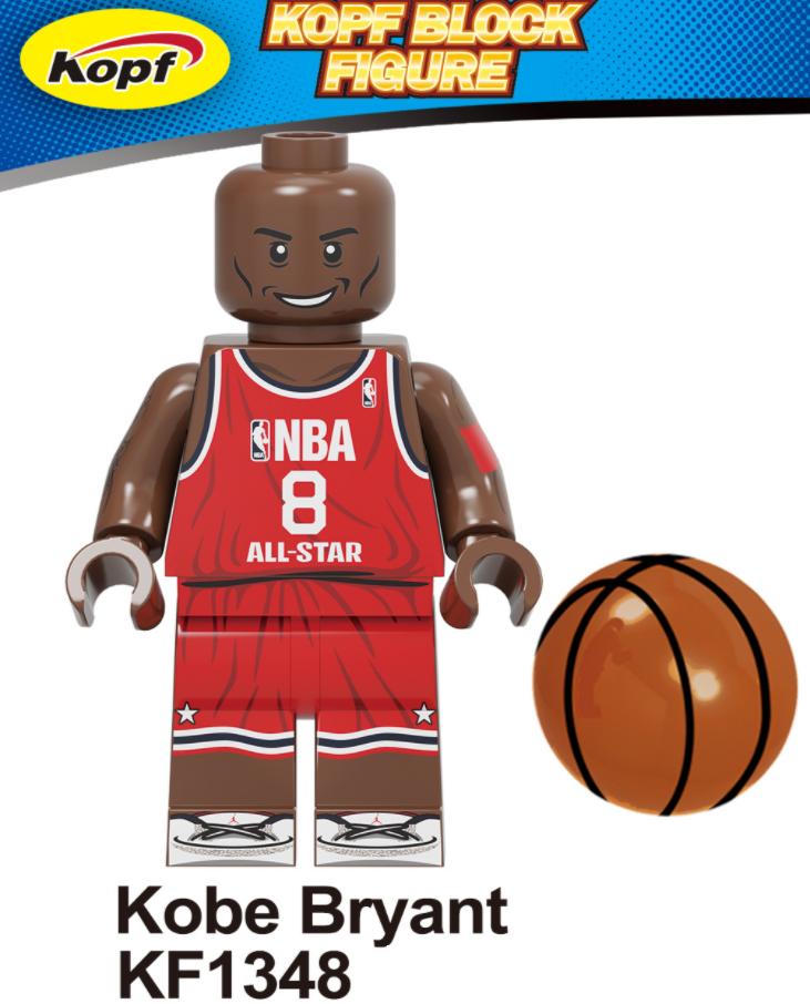 Kopf Celebrity & Singer & Painter Basketball Commemorative Edition Kobe Bryant Minifigures