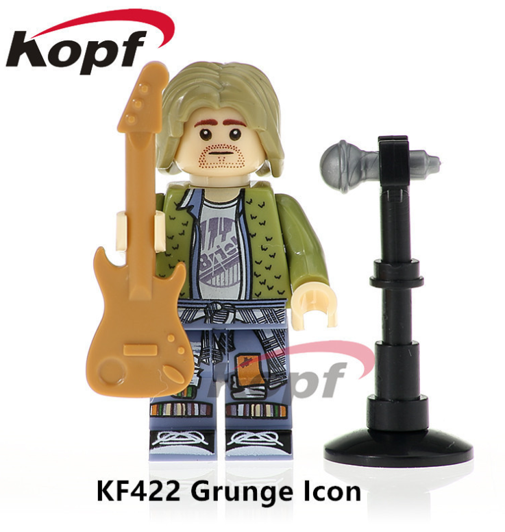 Kopf Celebrity & Singer & Painter KF422 Singer GrungeLcon Minifigures