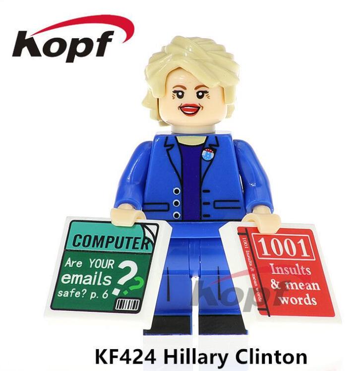 Kopf Celebrity & Singer & Painter KF424 Hillary Clinton Minifigures