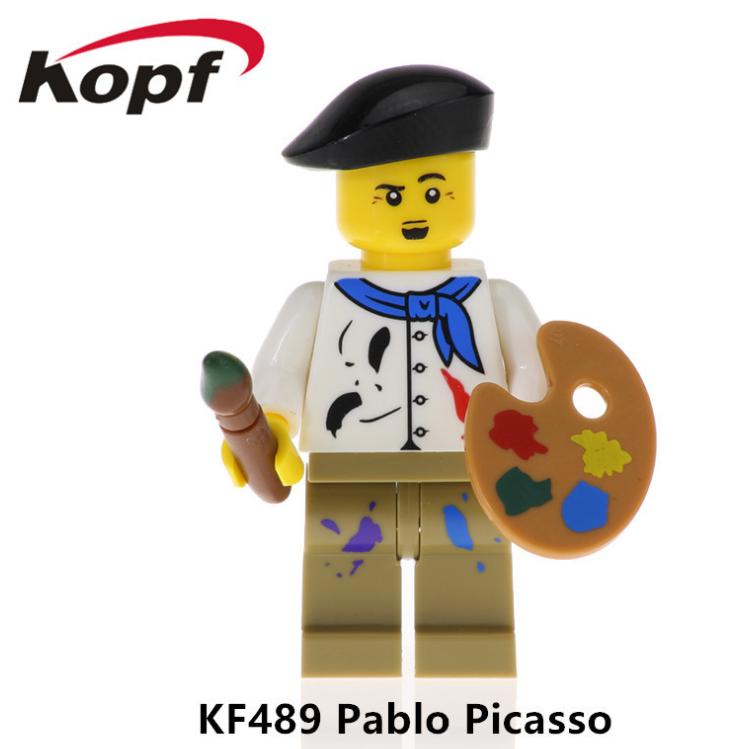 Kopf Celebrity & Singer & Painter KF489 Pablo Picasso Minifigures