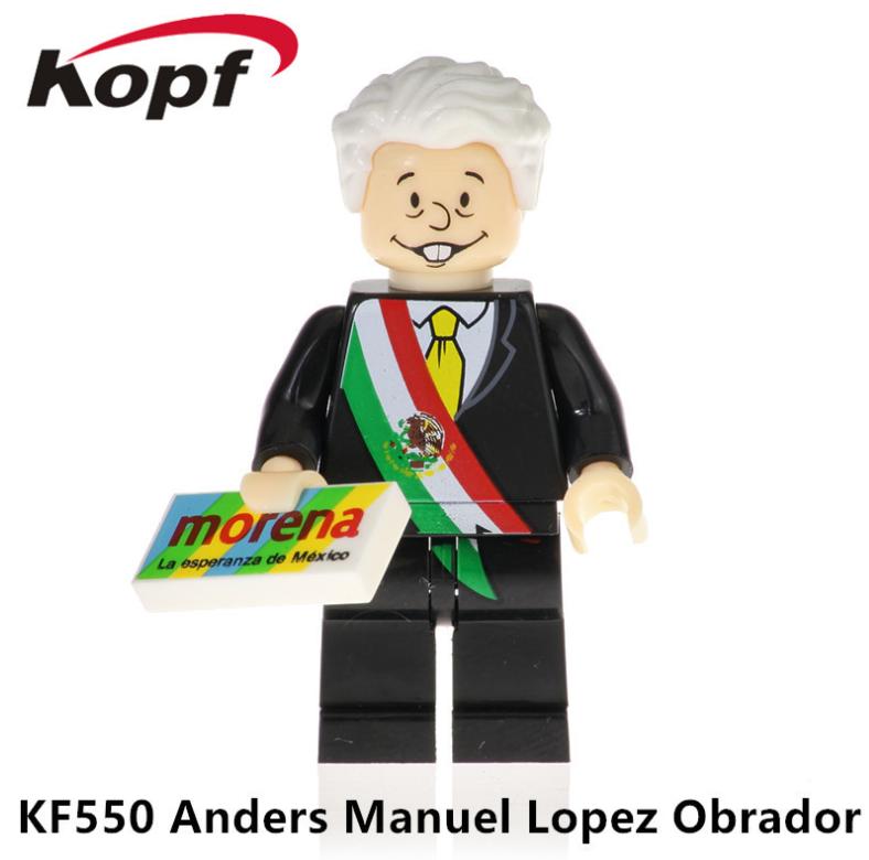 Kopf Celebrity & Singer & Painter Mexican Presidential Candidate Obrador Minifigures