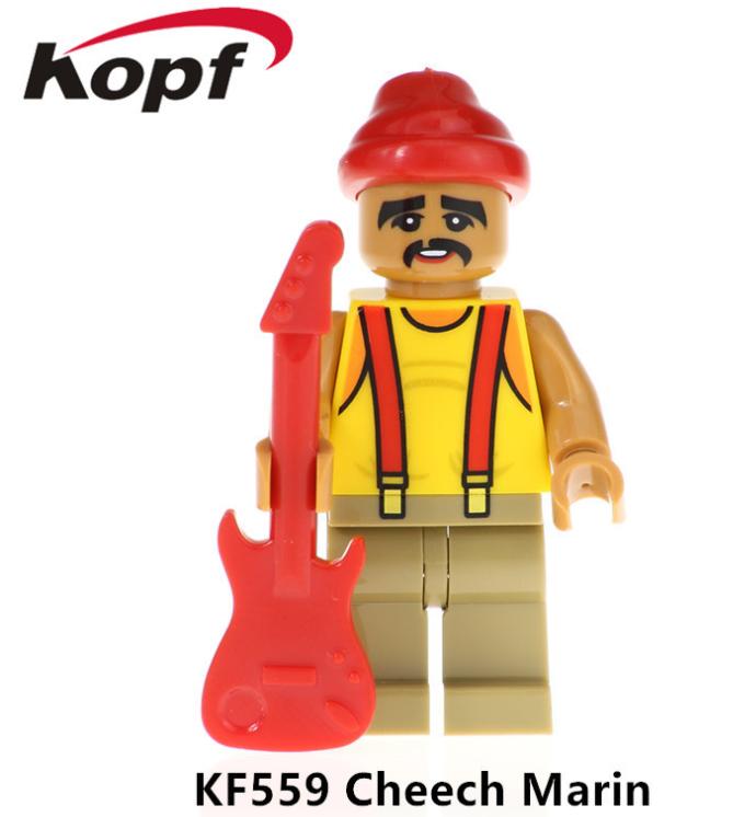 Kopf Celebrity & Singer & Painter Singer Character CheechMarin Minifigures