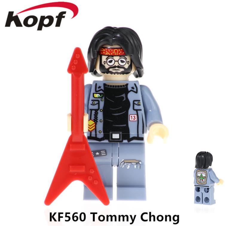 Kopf Celebrity & Singer & Painter Singer TommyChong Minifigures