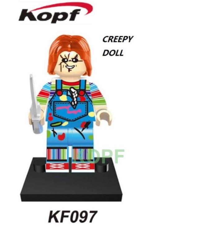 Kopf Halloween KF097 Creepy Doll Minifigures
