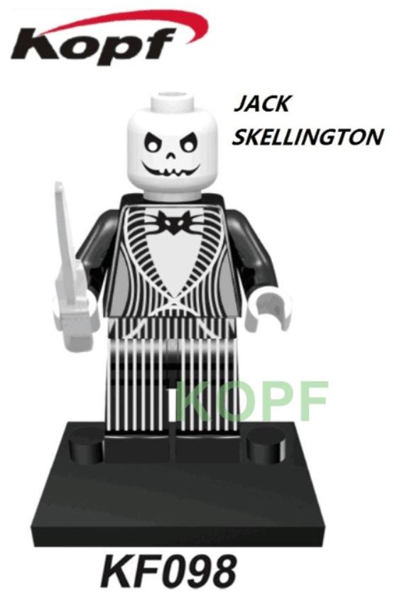 Kopf Halloween KF098 Skeleton Jack Minifigures