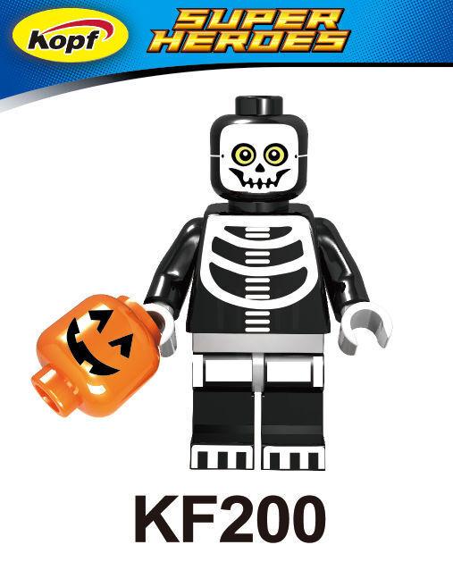 Kopf Third Party Series - KF200 Skeleton Boy minifigures