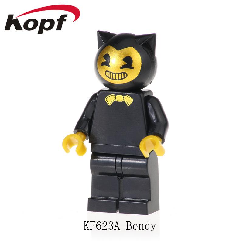 Kopf Third Party Series - KF623A Bendy Anime movie black minifigures