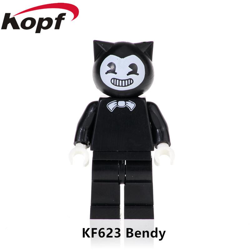 Kopf Third Party Series - KF623 Bendy Anime movie black minifigures
