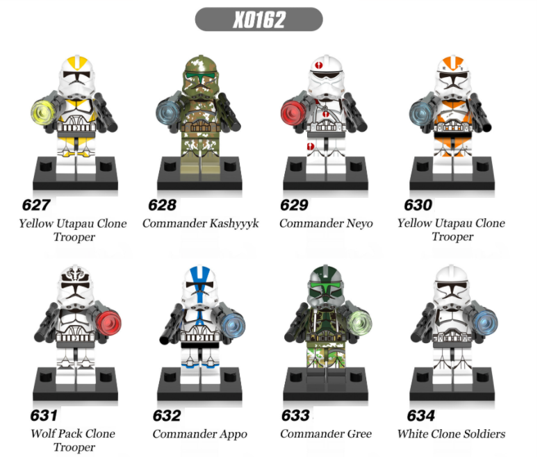 XINH Star Wars Commander of the White Clone Minifigures
