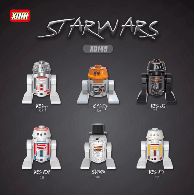 XINH Star Wars X0149 Six robots Minifigures