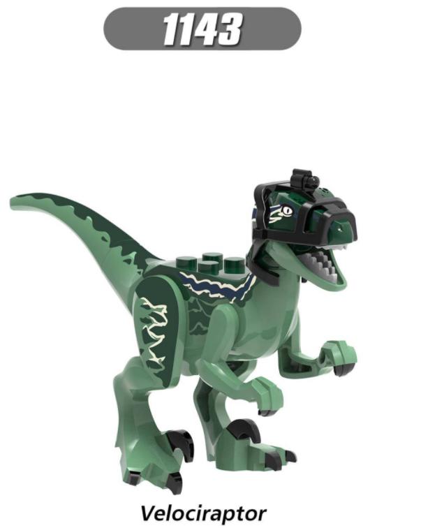 XINH Dinosaur World Velociraptor Toothless Pterodactyl Minifigures