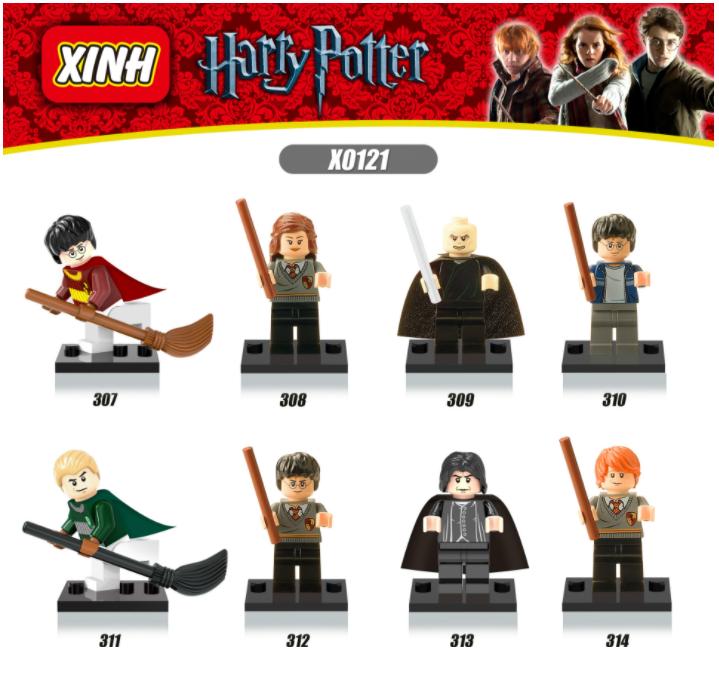 XINH Harry Potter X0121(307-314)Children's Assembly Minifigures