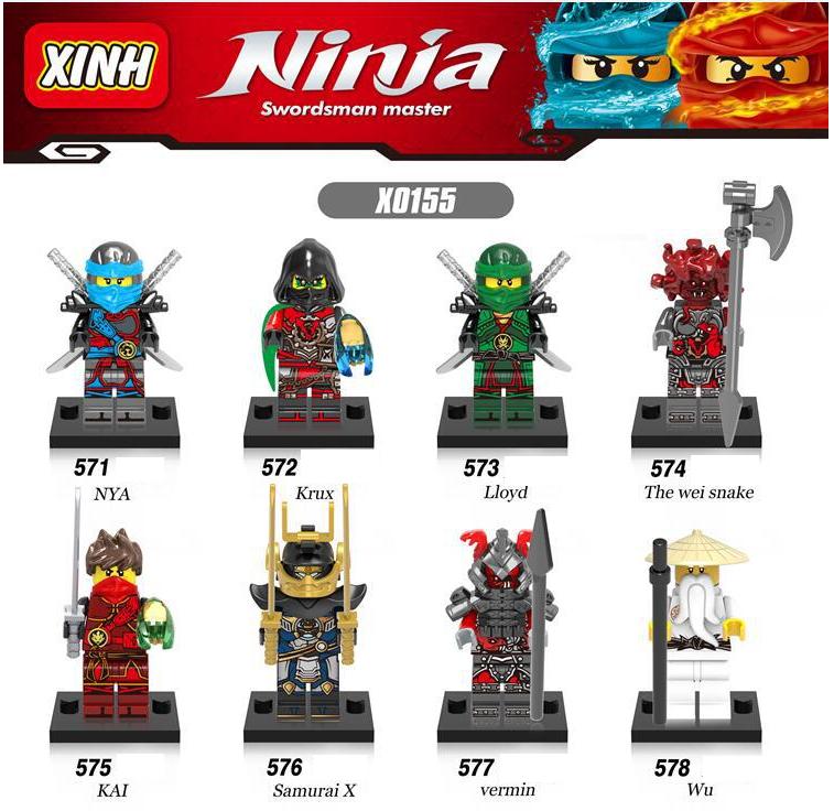 XINH Naruto Nia Kux Lloyd Minifigures