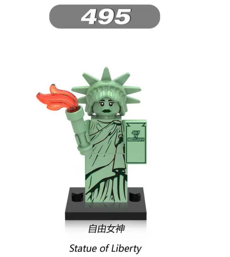 XINH Pumping X495 American Statue of Liberty Minifigures