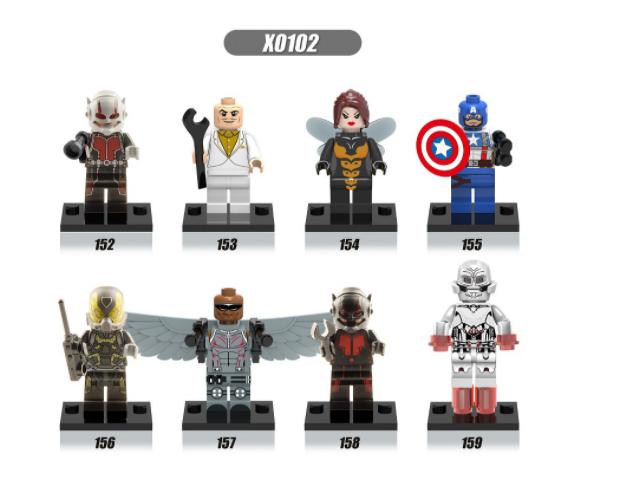 XINH Super Hero Figures X0102 Ant-Man Huang Feng Captain America Minifigures