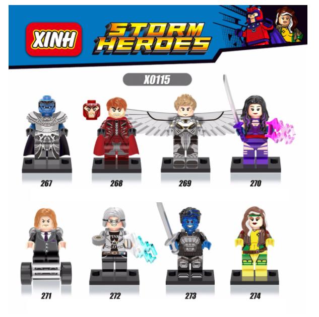 XINH Super Hero Figures X0115 X-Men Apocalypse Minifigures