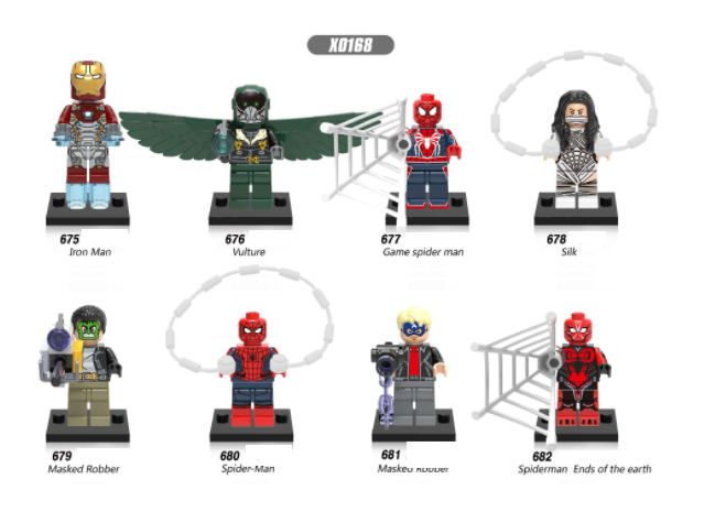 XINH Super Hero Figures X0168 Homecoming Iron Man Vulture Robber Minifigures