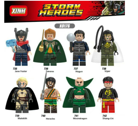 XINH Super Hero Figures X0176 Marvel's Avengers Franchise Thor Minifigures