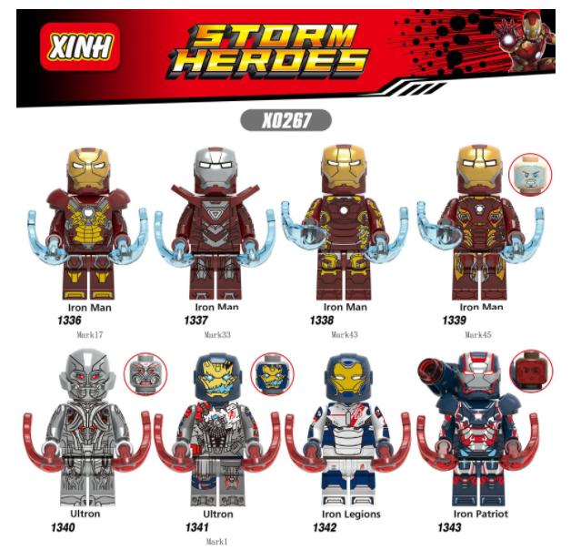 XINH Super Hero Figures X0267 Ultron Legion Patriot Minifigures