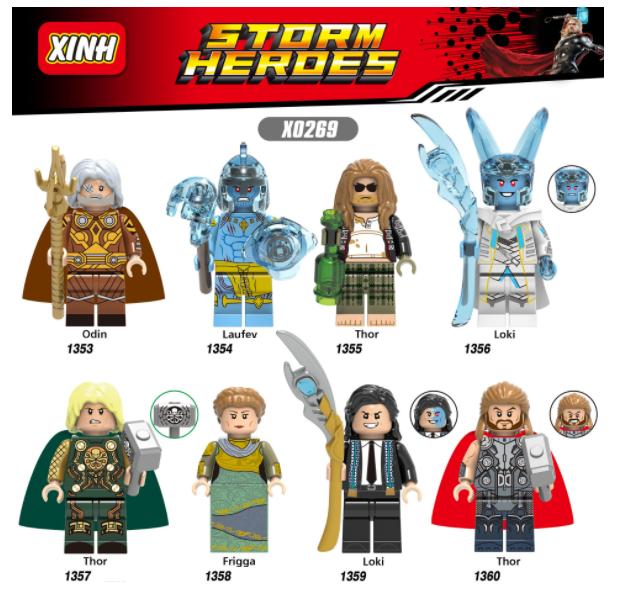 XINH Super Hero Figures X0269 Thor Loki the Frost Giant Minifigures