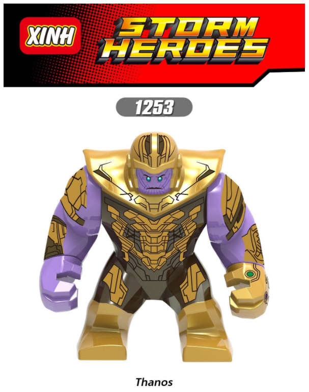 XINH Super Hero Figures X1253 Nemesis Thanos Minifigures