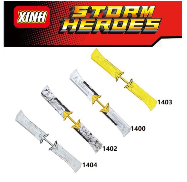 XINH Super Hero Figures X1400-1404 Avengers IV double-edged sword Minifigures