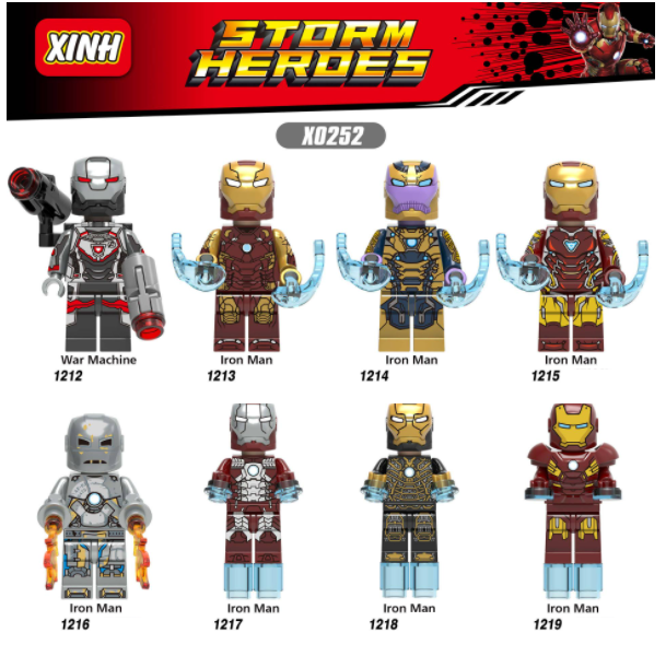 XINH Super Hero Figures XH0252 Thanos The War Machine Minifigures