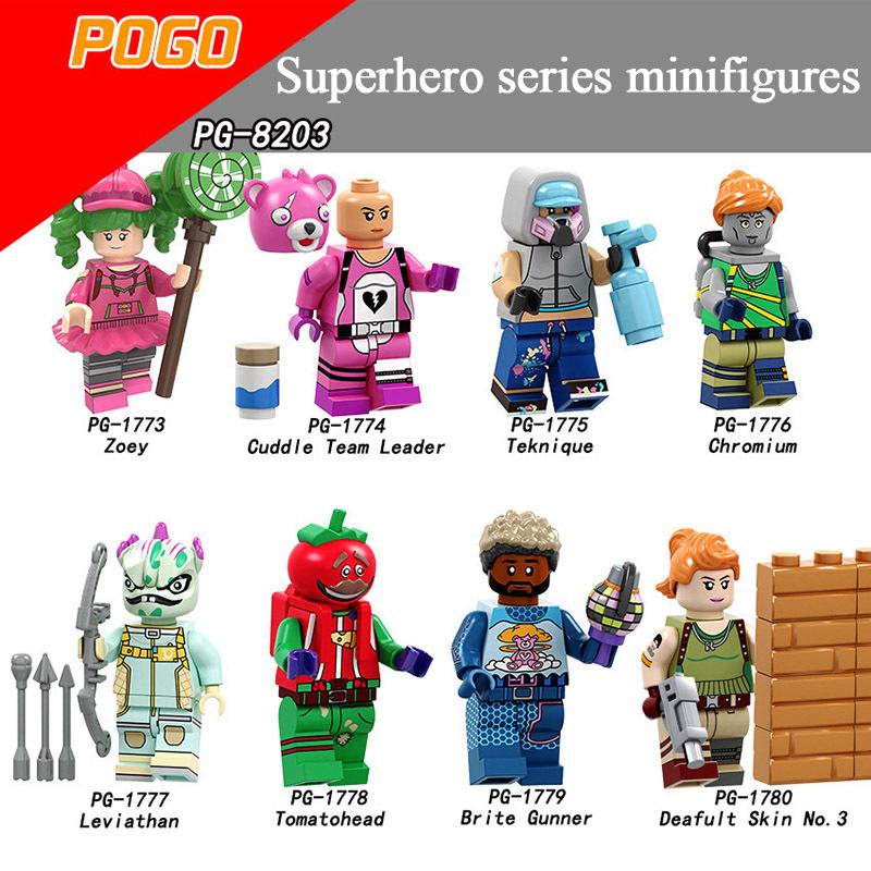 Pogo Superhero Series - PG8203 Safeguard Night Minifigures